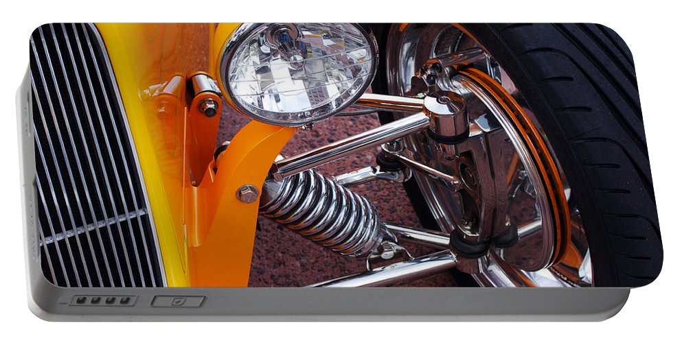 Car Portable Battery Charger featuring the photograph Hot Rod Headlight by Jill Reger