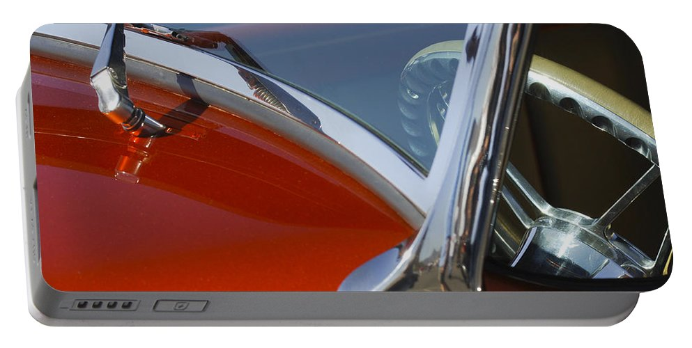 Hot Rod Portable Battery Charger featuring the photograph Hot Rod Steering Wheel 4 by Jill Reger