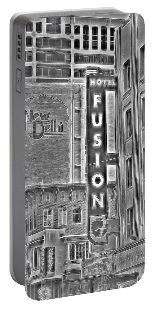 Hotel Portable Battery Charger featuring the photograph Hotel Fusion by Michael Moriarty