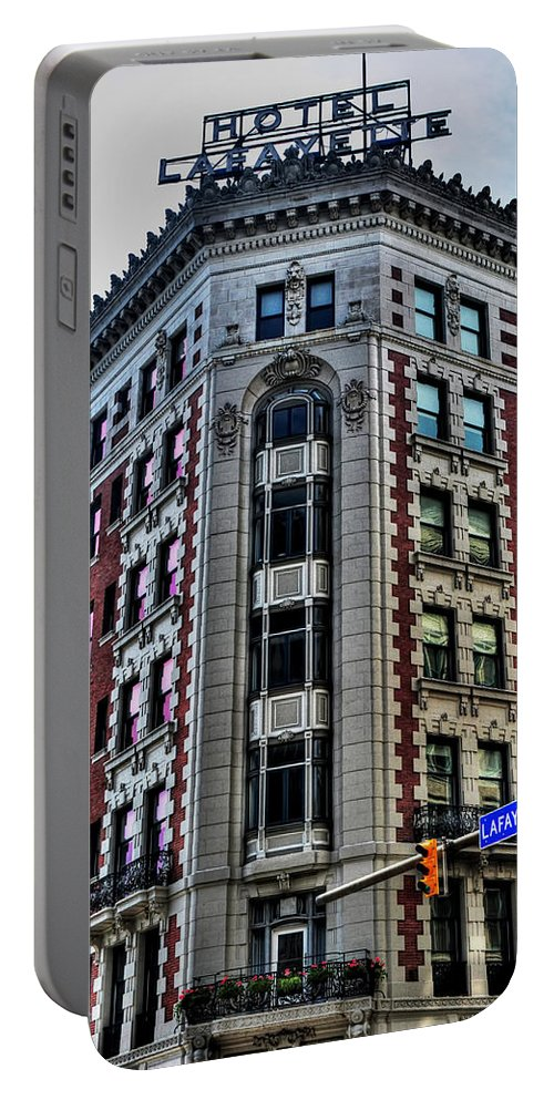 Portable Battery Charger featuring the photograph Hotel Lafayette Series 0003 by Michael Frank Jr