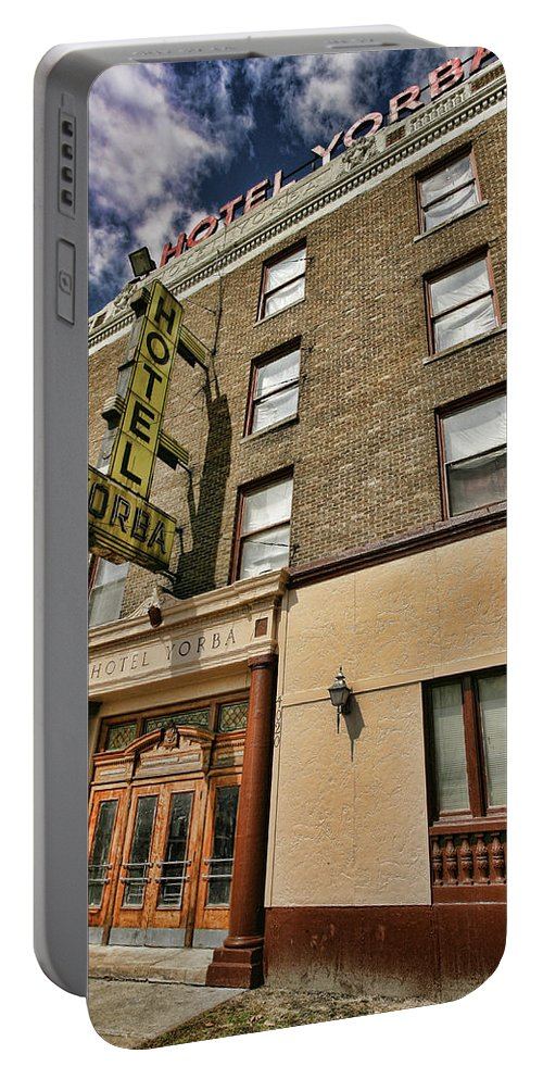 Hotel Yorba Portable Battery Charger featuring the photograph Hotel Yorba by Gordon Dean II