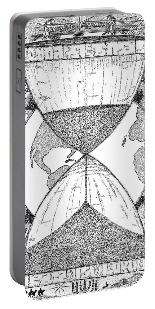 Mccarthy Art Portable Battery Charger featuring the drawing Hourglass by Glenn McCarthy Art and Photography