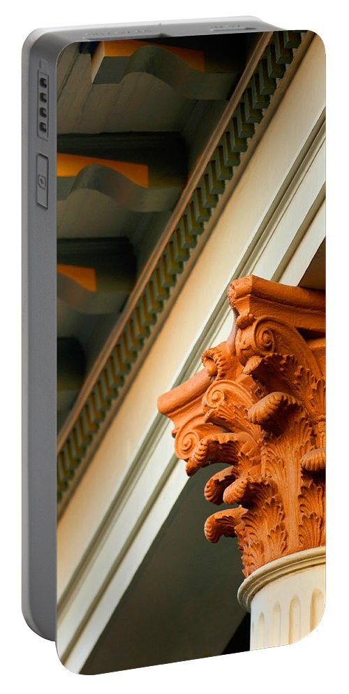 Architecture Portable Battery Charger featuring the photograph House Column by Jill Reger