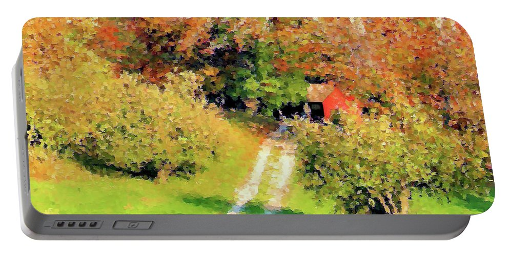 Country Road Portable Battery Charger featuring the photograph House In The Hills by Kristin Elmquist