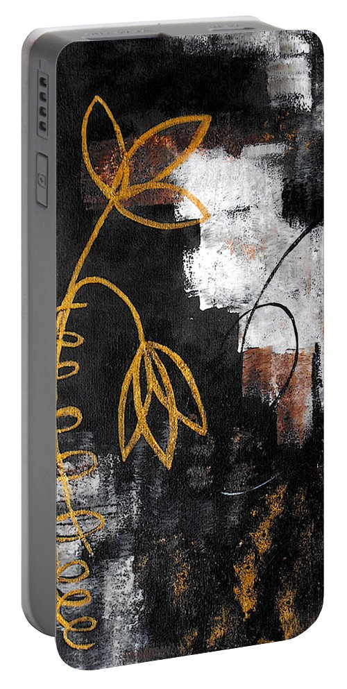Abstract Portable Battery Charger featuring the painting House Of Memories by Ruth Palmer