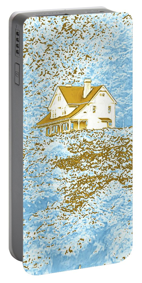 House On The Hill Portable Battery Charger featuring the photograph House On The Hill by Methune Hively
