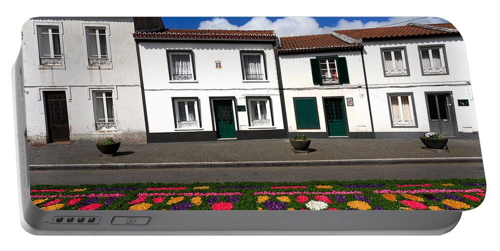 Azores Portable Battery Charger featuring the photograph Houses In The Azores by Gaspar Avila