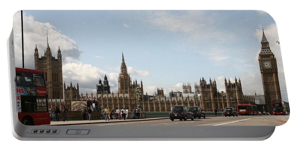 Big Portable Battery Charger featuring the photograph Houses Of Parliament. by Christopher Rowlands