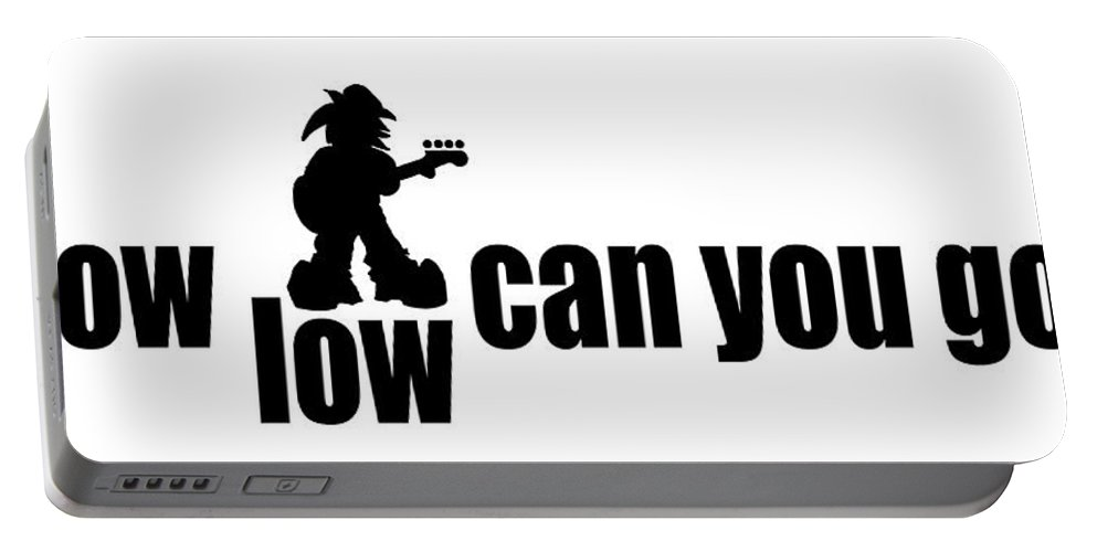Music Portable Battery Charger featuring the digital art How Low Can You Go by Kev Moore