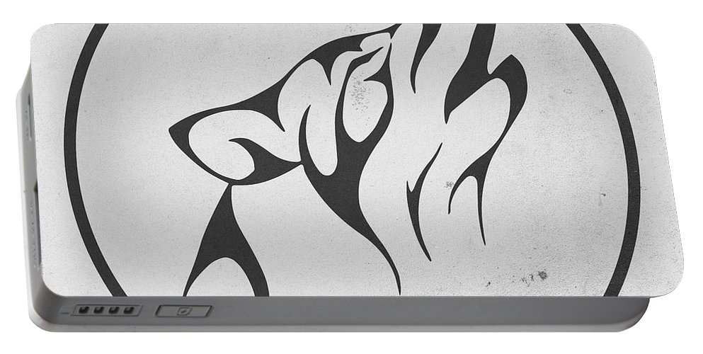 Fool Moon Portable Battery Charger featuring the digital art Howling Wolf Art - Fool Moon Wolf Lovers Prints by Wall Art Prints