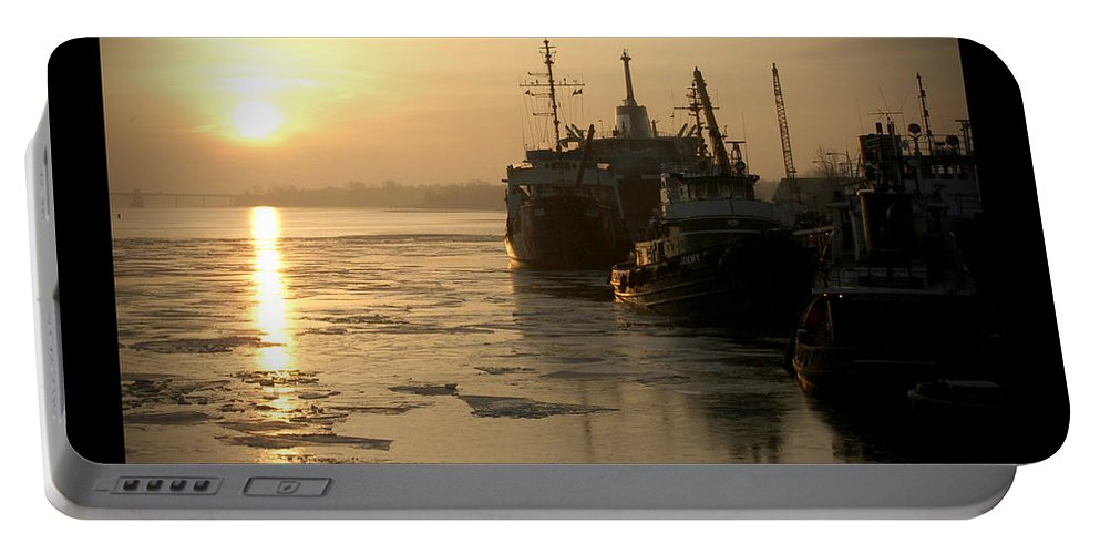 Boat Portable Battery Charger featuring the photograph Huddled Boats by Tim Nyberg