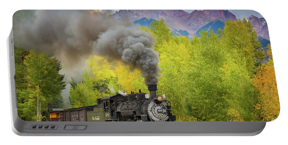 America Portable Battery Charger featuring the photograph Huffing And Puffing by Inge Johnsson