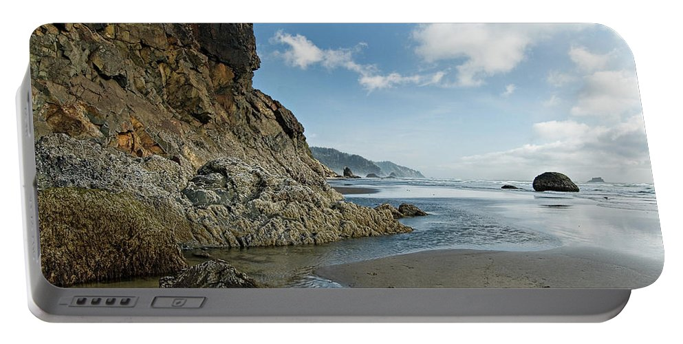 Oregon Portable Battery Charger featuring the photograph Hug Point Beach by Renee Hong