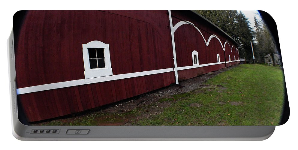 Clay Portable Battery Charger featuring the photograph Huge Barn by Clayton Bruster