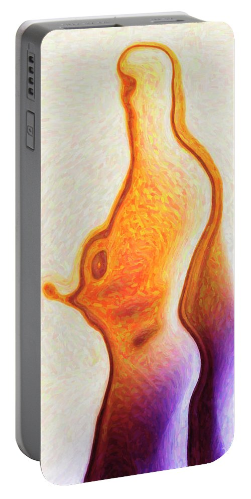 Human Portable Battery Charger featuring the painting Human Silhouette by Joaquin Abella