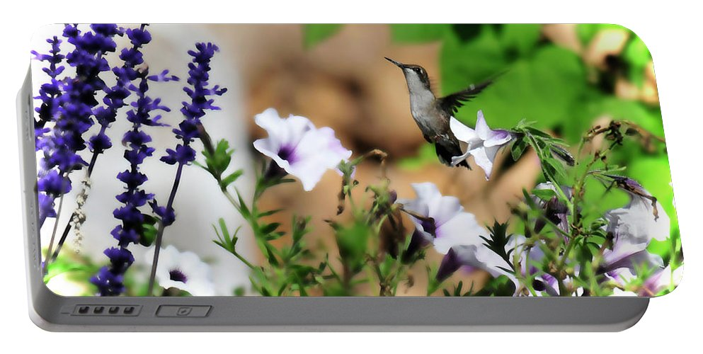Bird Portable Battery Charger featuring the photograph Hummmer by David Arment