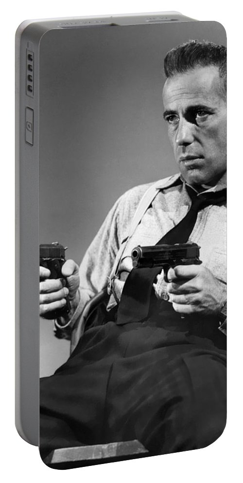 Humphery Bogart As Gangster Roy Earle High Sierra 1941 Portable Battery Charger featuring the photograph Humphery Bogart As Gangster Roy Earle High Sierra 1941 by David Lee Guss