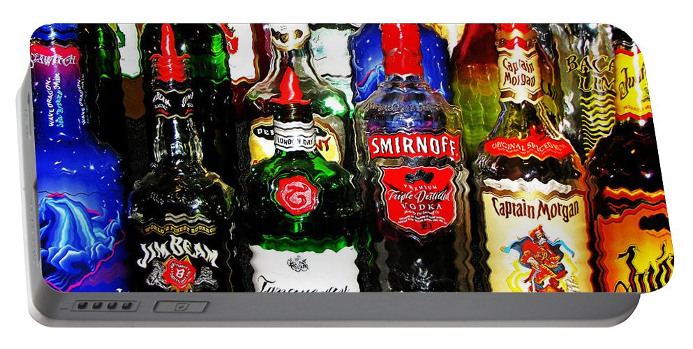 Liquor Portable Battery Charger featuring the photograph Hung Over by Ms Judi