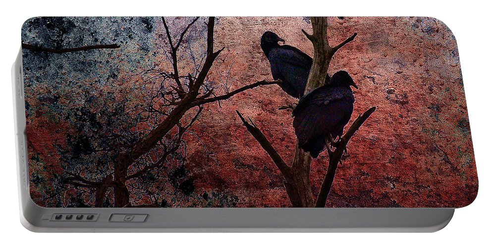 Buzzard Portable Battery Charger featuring the photograph Hunger by Lois Bryan