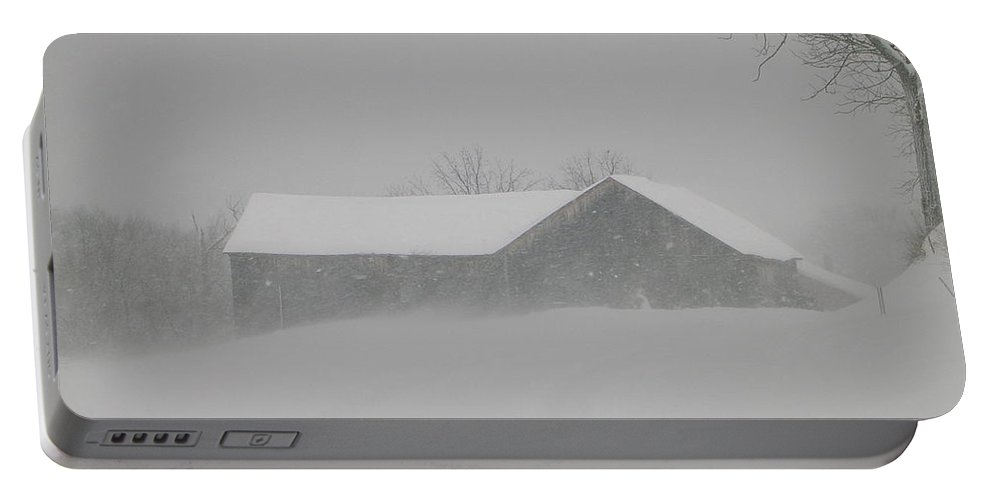Structural Landscape Of Barn Portable Battery Charger featuring the photograph Hunker Down by Jack Harries