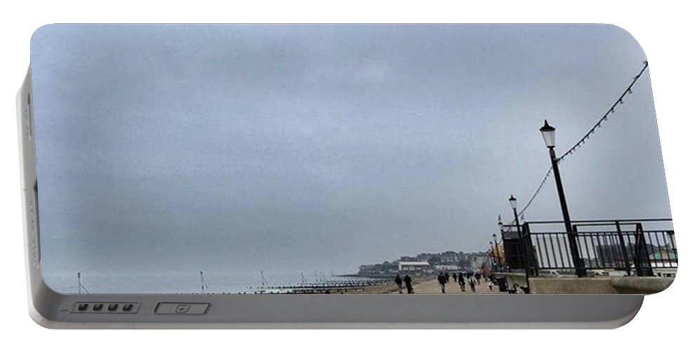 Beautiful Portable Battery Charger featuring the photograph Hunstanton At 4pm Yesterday As The by John Edwards