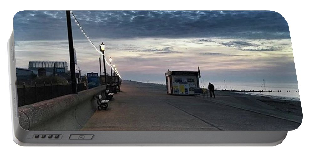 Beautiful Portable Battery Charger featuring the photograph Hunstanton At 5pm Today  #sea #beach by John Edwards