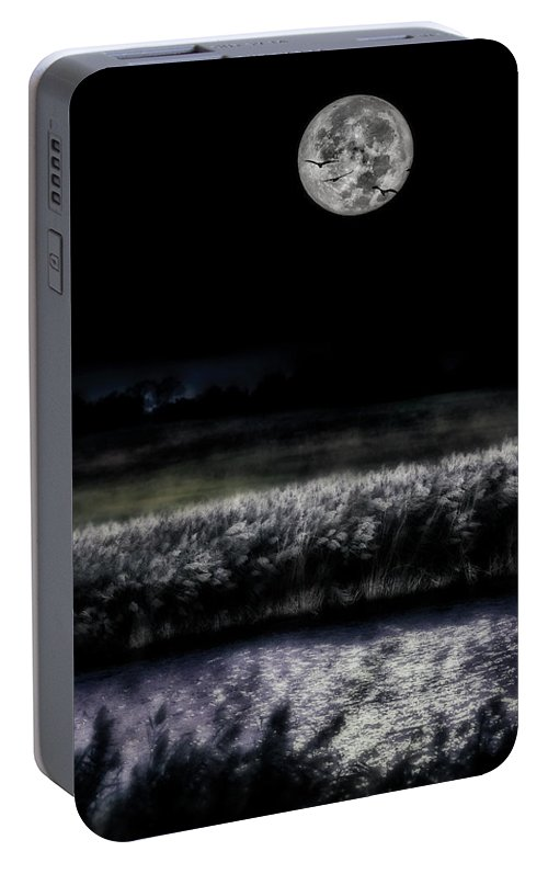 Hunter Moon Photo Portable Battery Charger featuring the photograph Hunters Moon by Garett Gabriel