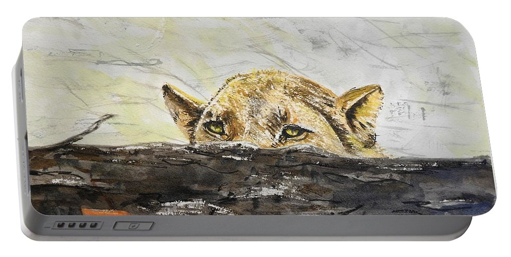 Lioness Portable Battery Charger featuring the photograph Hunting by Betty-Anne McDonald