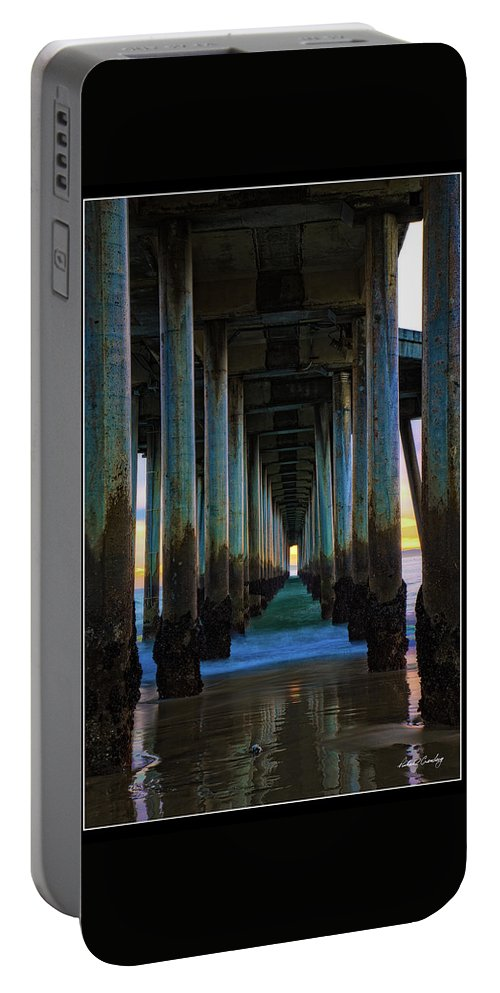 Pier Portable Battery Charger featuring the photograph Huntington Beach Pier 2 by Richard Cronberg