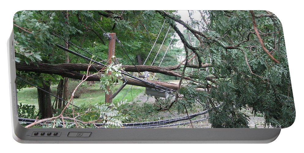 Hurricane Portable Battery Charger featuring the photograph Hurricane Irene by Sandra Bourret