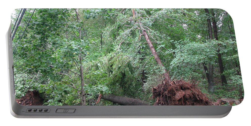Hurricane Damage Portable Battery Charger featuring the photograph Hurricane by Sandra Bourret