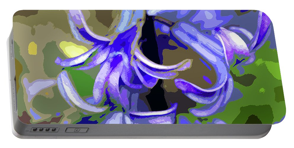 Hyacinth Portable Battery Charger featuring the photograph Hyacinth Digital Art by Sharon Talson