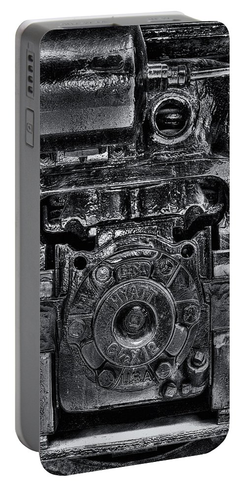 Train Portable Battery Charger featuring the photograph Hyatt Bearings by Scott Wyatt