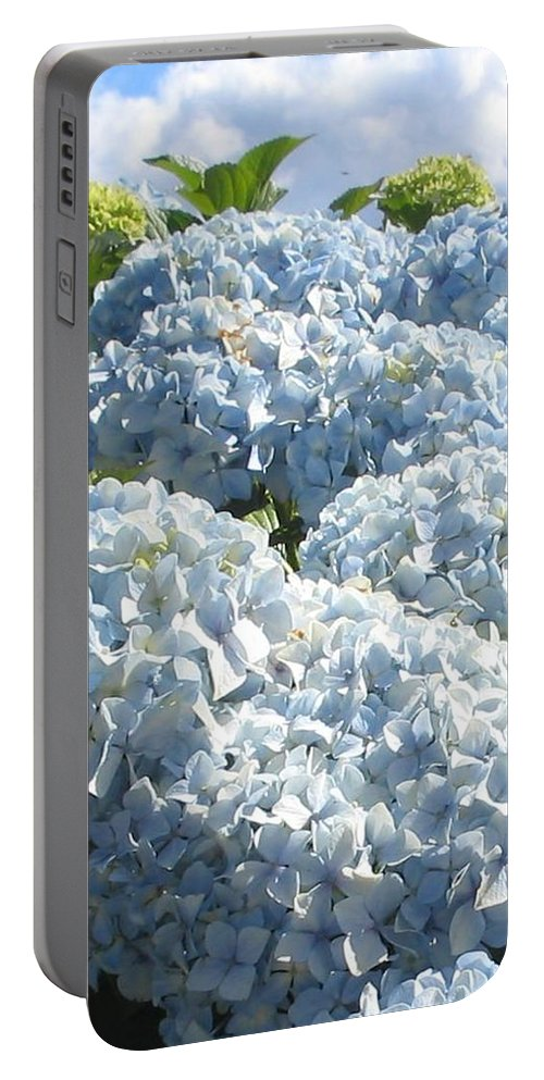 Blue Hydrangea Portable Battery Charger featuring the photograph Hydrangeas by Valerie Josi