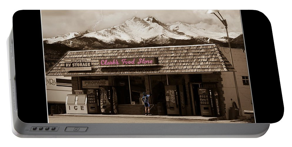 Hygiene Portable Battery Charger featuring the photograph Hygiene Colorado Bw Fine Art Photography Print by James BO Insogna