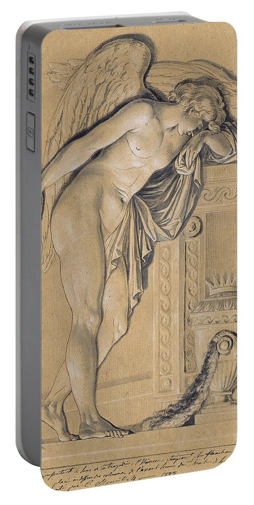 Johann Christian Von Mannlich Portable Battery Charger featuring the drawing Hymen Mourning by Johann Christian von Mannlich