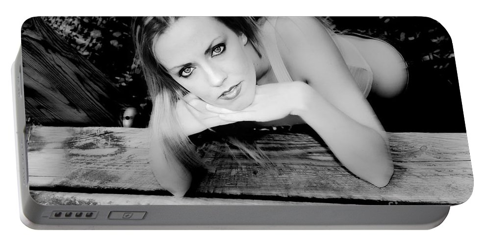 Clay Portable Battery Charger featuring the photograph Hypnotic Eyes by Clayton Bruster