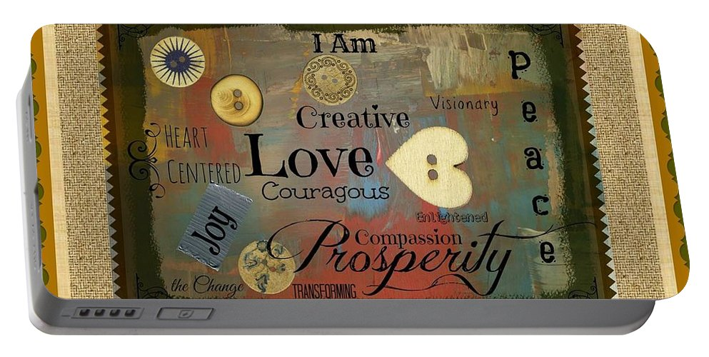 I Am Portable Battery Charger featuring the photograph I Am Affirmation by Bobbee Rickard