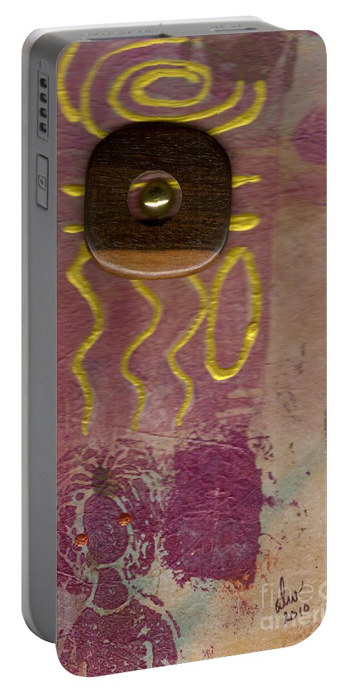 Wood Portable Battery Charger featuring the mixed media I Am Woman by Angela L Walker