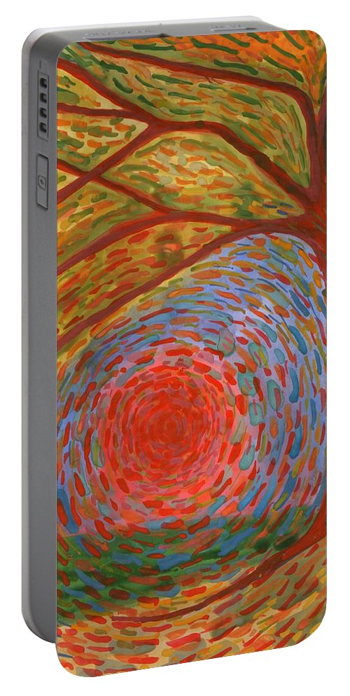 Colour Portable Battery Charger featuring the painting I Die by Wojtek Kowalski