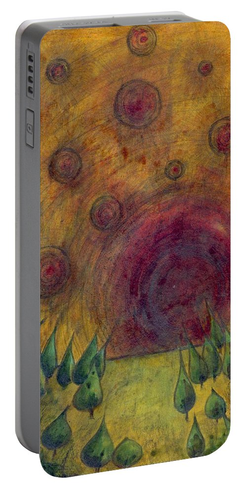 Colour Portable Battery Charger featuring the painting I Go There by Wojtek Kowalski
