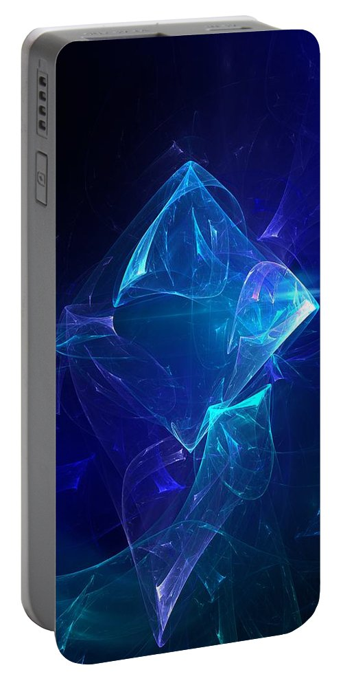 Abstract Digital Photo Portable Battery Charger featuring the digital art I Had Too Much To Dream Last Night by David Lane