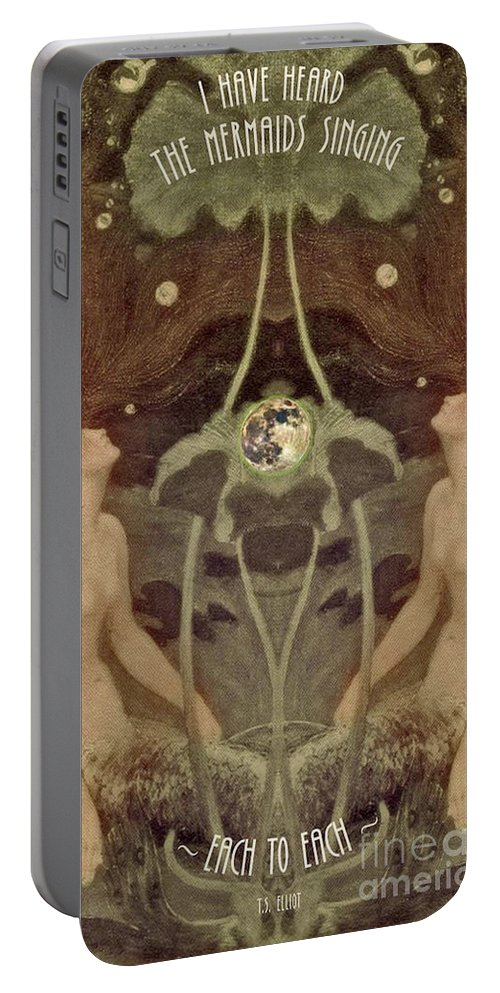 Mermaid Art Portable Battery Charger featuring the painting I Have Heard The Mermaids Singing by Lora Serra
