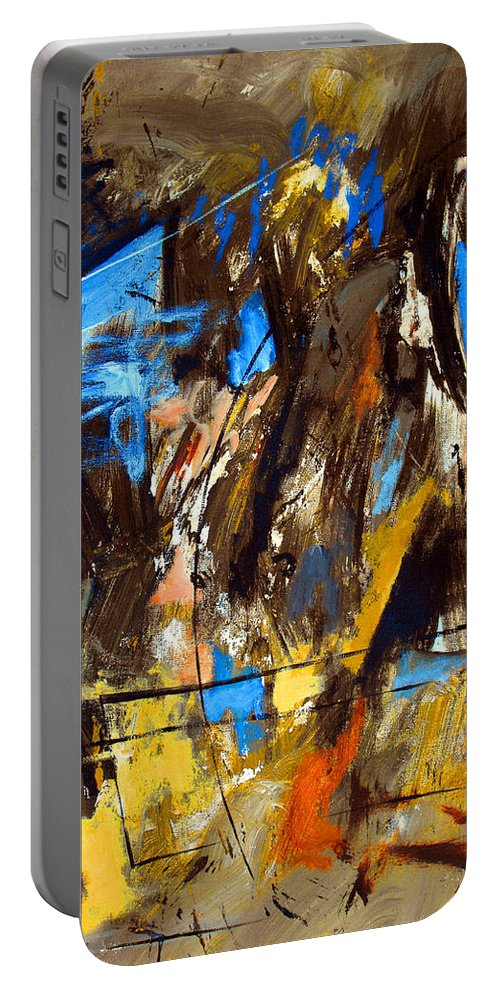 Abstract Portable Battery Charger featuring the painting I Hear You Through The Noise by Ruth Palmer