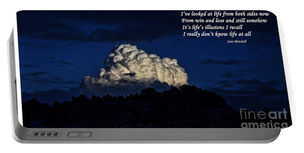 Boarder Portable Battery Charger featuring the photograph I Really Don't Know Life At All by Jim Fitzpatrick