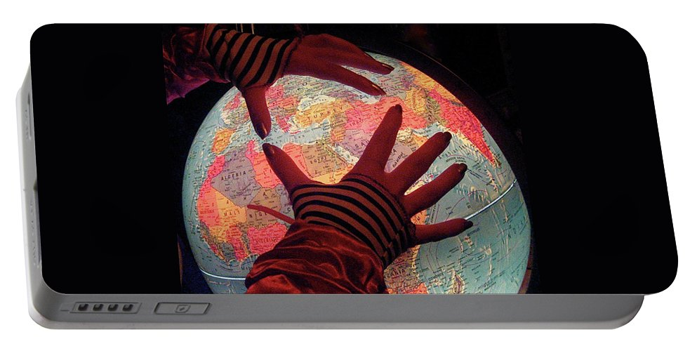 Globe Portable Battery Charger featuring the photograph I See Travel In Your Future by Venetia Featherstone-Witty