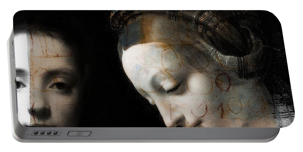 Classical Portable Battery Charger featuring the digital art I Still Haven't Found What I'm Looking For by Paul Lovering