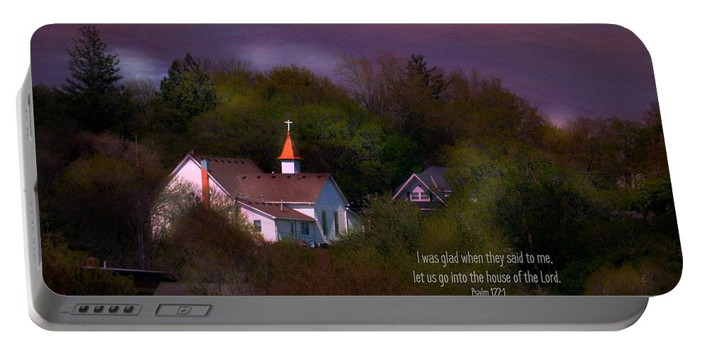 Portable Battery Charger featuring the photograph I Was Glad by Kim Blaylock