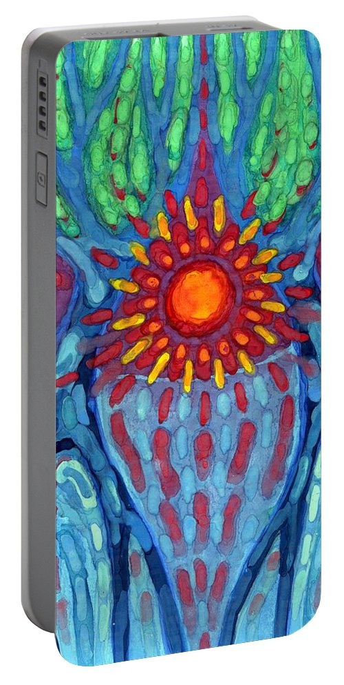 Colour Portable Battery Charger featuring the painting I Will By Always by Wojtek Kowalski