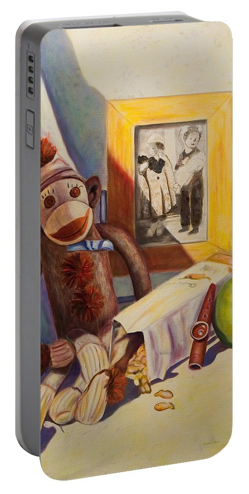 Children Portable Battery Charger featuring the painting I Will Remember You by Shannon Grissom